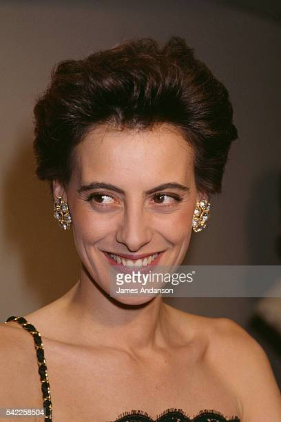 French model Ines de La Fressange during the ceremony naming her 'Marianne' 'Marianne' is the name of the bust and symbol of the French Republic...