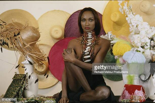 French model Katoucha Niane known as The Peul Princess preparing her first collection