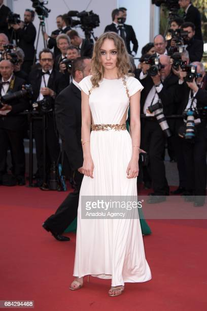 French model Lily Rose Depp arrives for the screening of the film 'Les Fantomes dIsmael' out of competition and the Opening Ceremony of the 70th...