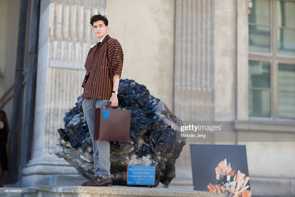 French Model Ryan Hassaine At Museum National DHistoire Naturelle Day 2 Of Paris Fashion