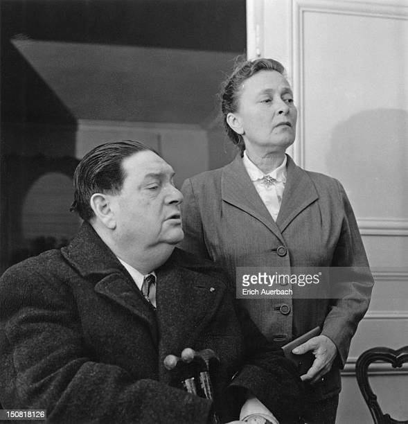 French modernist composer and teacher Darius Milhaud with his wife actress and librettist Madeleine Milhaud 21st October 1957