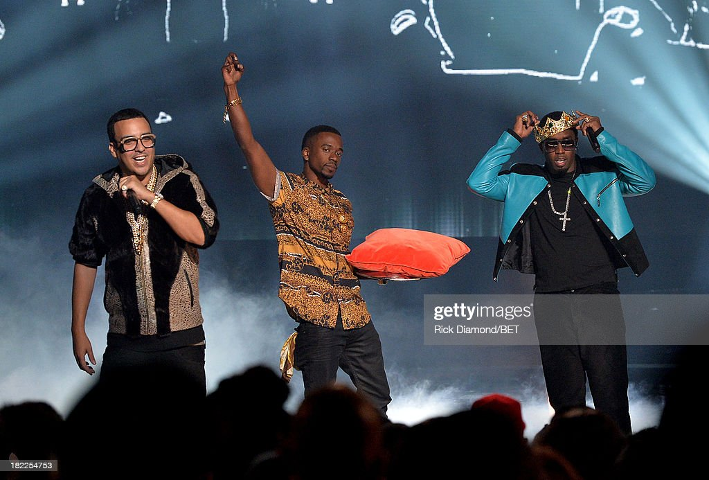 French Montan (L) and Diddy (R) perform onstage at the BET Hip Hop Awards 2013 at Boisfeuillet Jones Atlanta Civic Center on September 28, 2013 in Atlanta, Georgia.