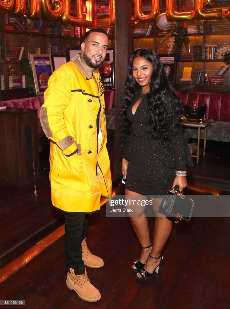 French Montana and Ashanti attend Ciroc & Epic Records present French Montana 'Jungle Rules' Gold Dinner at Poppy on October 20, 2017 in Los Angeles, California.
