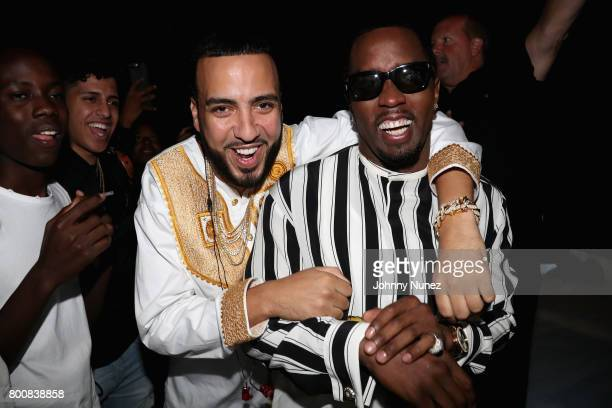 French Montana and Diddy backstage at the 2017 BET Awards at Microsoft Theater on June 25 2017 in Los Angeles California
