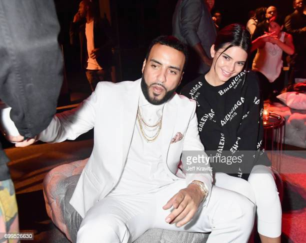 French Montana and Kendall Jenner toast to Sean Diddy Combs and the world premiere of Can't Stop Won't Stop at the official after party powered by...