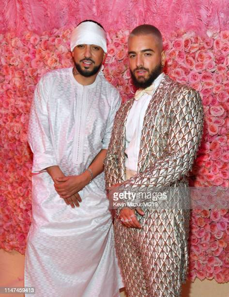 French Montana and Maluma attend The 2019 Met Gala Celebrating Camp Notes on Fashion at Metropolitan Museum of Art on May 06 2019 in New York City