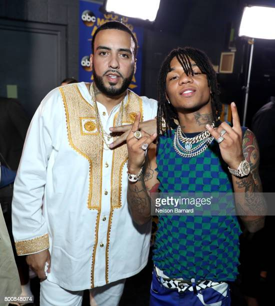 French Montana and Swae Lee backstage at the 2017 BET Awards at Microsoft Theater on June 25 2017 in Los Angeles California