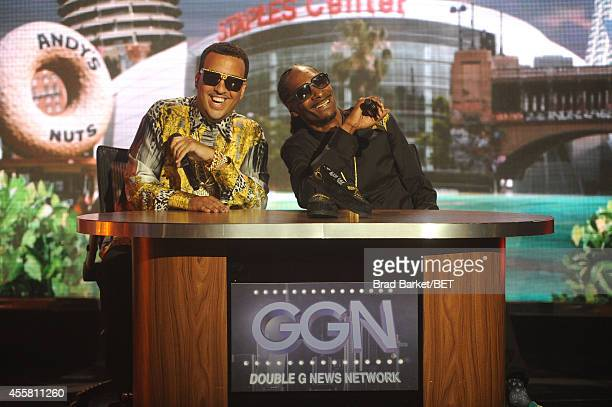 French Montana and Uncle Snoop present onstage during the BET Hip Hop Awards 2014 at Boisfeuillet Jones Atlanta Civic Center on September 20, 2014 in...