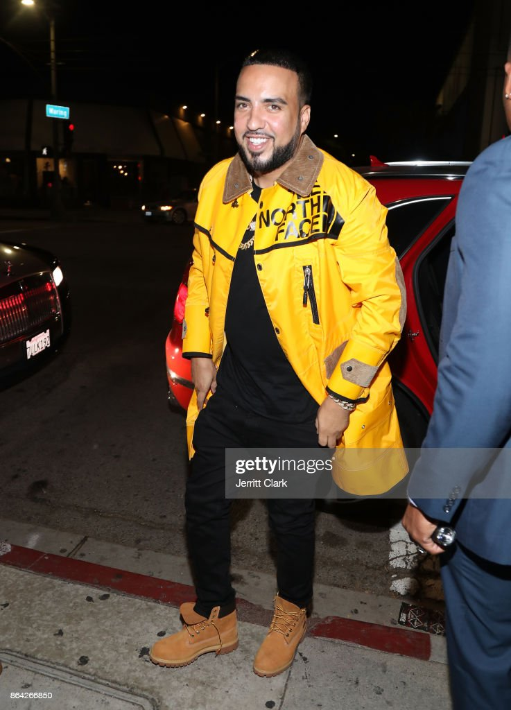 French Montana arrives at Ciroc & Epic Records present French Montana 'Jungle Rules' Gold Dinner at Poppy on October 20, 2017 in Los Angeles, California.