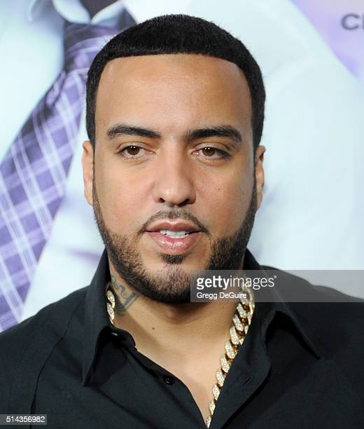 French Montana arrives at the premiere of Lionsgate's 'The Perfect Match' at ArcLight Hollywood on March 7 2016 in Hollywood California