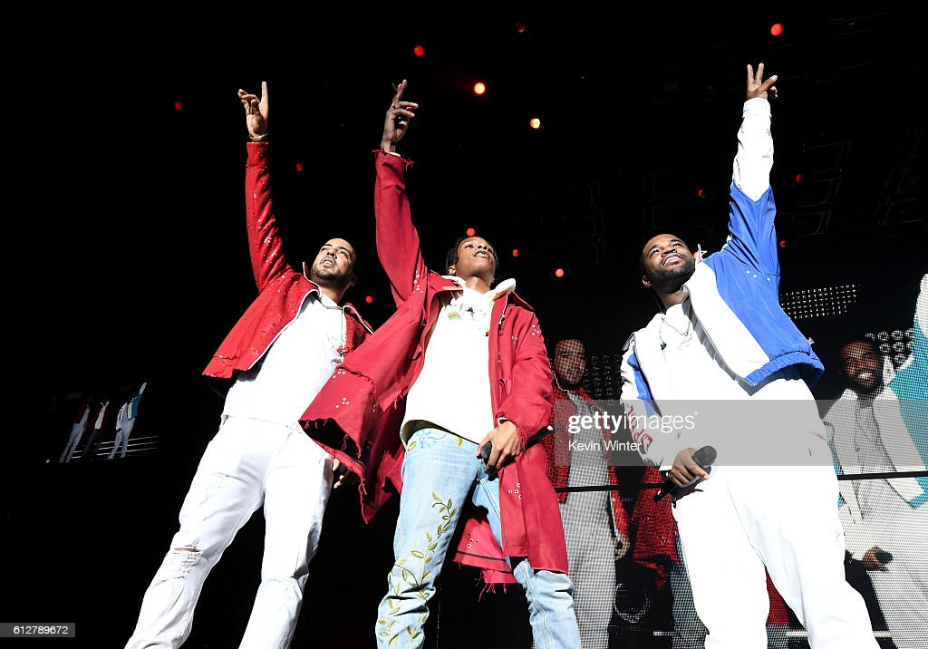 French Montana, ASAP Rocky and ASAP Ferg perform onstage during the Bad Boy Family Reunion Tour at The Forum on October 4, 2016 in Inglewood, California.
