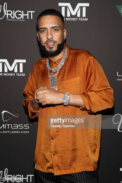 French Montana attends Floyd Mayweather's 43rd Birthday Celebration at Sunset Eden on February 21, 2020 in Los Angeles, California.