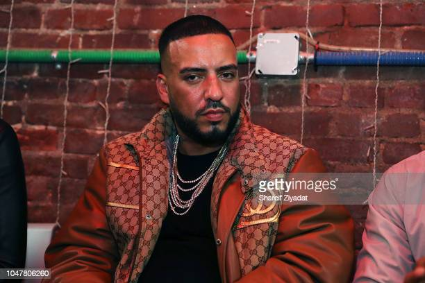 French Montana attends French Montana And Global Citizen Host Mass Bail Out Teach In at Boogie Down Grind Cafe on October 8 2018 in New York City