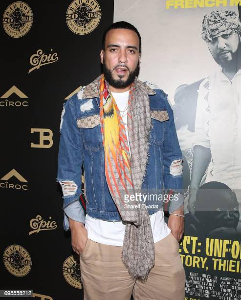 French Montana attends French Montana's Project Unforgettable Uganda 'My Story Their Reality' Screening Album Playback at Crosby Street Hotel on June...