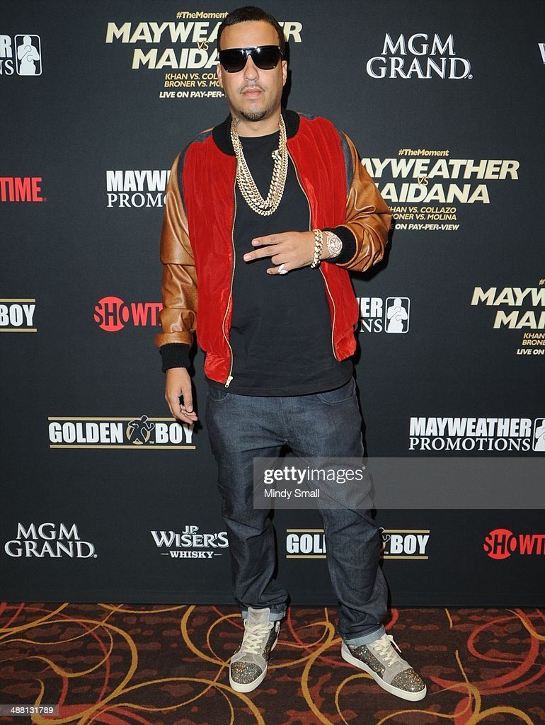 French Montana attends the Mayweather Vs. Maidana Pre-Fight Party Presented By Showtime at MGM Garden Arena on May 3, 2014 in Las Vegas, Nevada.