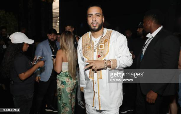 French Montana backstage at the 2017 BET Awards at Microsoft Theater on June 25 2017 in Los Angeles California