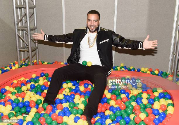 French Montana backstage during the Daytime Village Presented by Capital One at the 2017 HeartRadio Music Festival at the Las Vegas Village on...