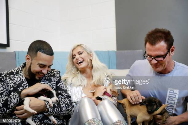 French Montana Bebe Rexha and Johnjay Van Es attend the 2017 iHeartRadio Music Festival at TMobile Arena on September 22 2017 in Las Vegas Nevada