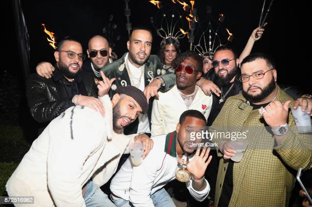 French Montana celebrates with friends at the CIROC French Vanilla Birthday Celebration for French Montana on November 9 2017 in Beverly Hills...