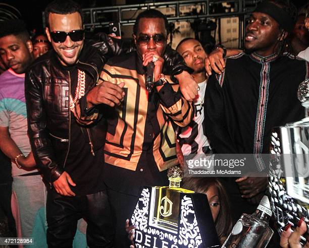 French Montana Diddy and PushaT at The Havana Club at the New Tropicana Las Vegas on May 2 2015 in Las Vegas Nevada