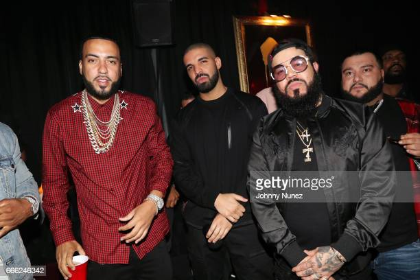 French Montana Drake Splif and Amir Cash Esmailian attend Belly's Birthday Bash at Private Residence on April 7 2017 in Los Angeles California