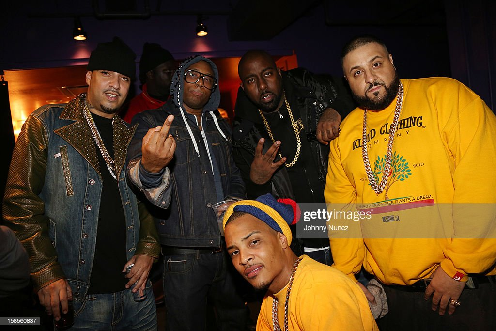 French Montana, Maino, T.I., Trae Tha Truth, and DJ Khaled attend 'T.I. In Concert' at Best Buy Theater on December 18, 2012 in New York, United States.