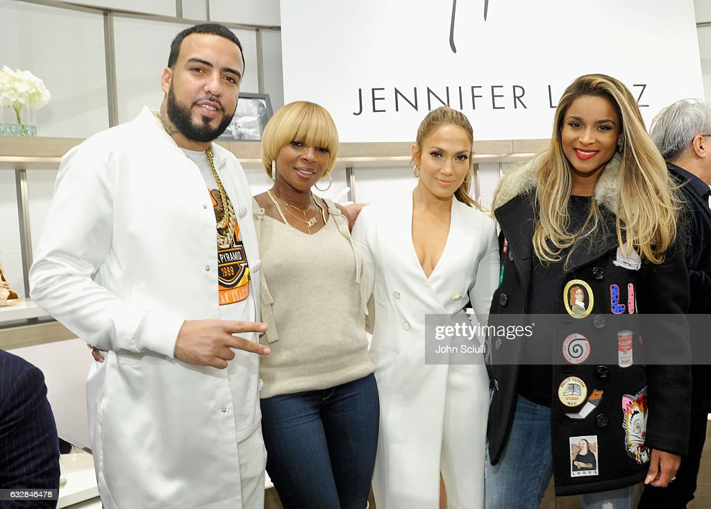 French Montana, Mary J. Blige, Jennifer Lopez and Ciara attend the Giuseppe for Jennifer Lopez Launch at Neiman Marcus Beverly Hills on January 26, 2017 in Beverly Hills, California.