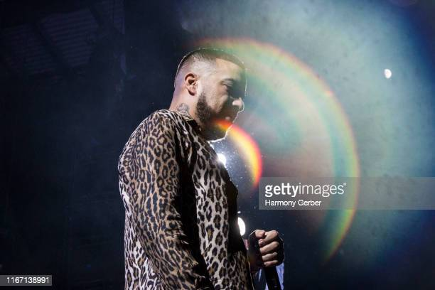 French Montana performs at FivePoint Amphitheatre on August 09, 2019 in Irvine, California.