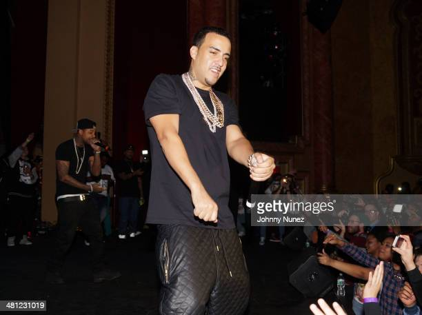 French Montana performs during Hip Hop Idols at The Paramount Hudson Valley on March 28 2014 in Peekskill New York