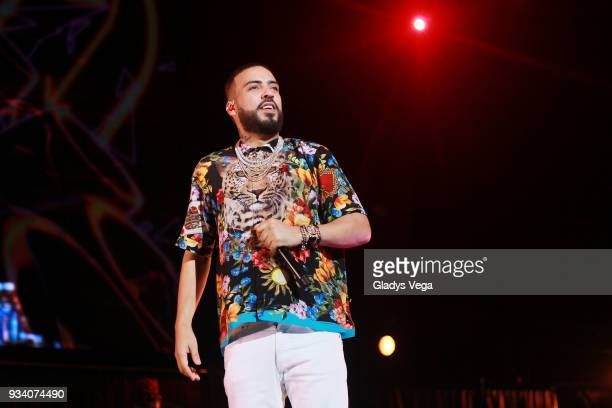 French Montana performs during the benefit concert 'Power To The People' at Coliseo Jose M Agrelot on March 18 2018 in San Juan Puerto Rico