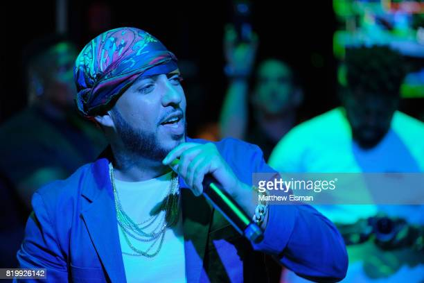 French Montana performs for a packed crowd during Samsung's Made for Summer Series Live at 837 at Samsung 837 on July 20 2017 in New York City