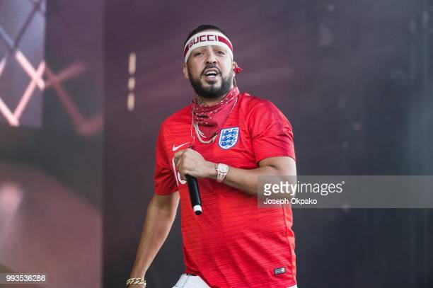 French Montana performs on Day 2 of Wireless Festival 2018 at Finsbury Park on July 7 2018 in London England