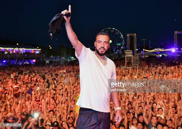 French Montana performs on Downtown Stage during the 2018 Life Is Beautiful Festival on September 21 2018 in Las Vegas Nevada
