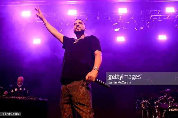 French Montana performs on stage at iHeartRadio Live and Verizon Bring You French Montana in New York City at Webster Hall on August 28 2019