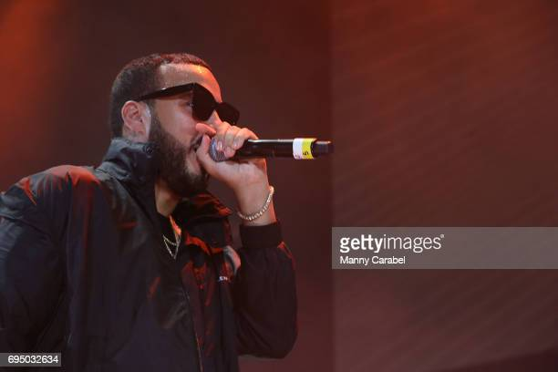 French Montana performs on stage during the HOT 97 Summer Jam 2017 at MetLife Stadium on June 11 2017 in East Rutherford New Jersey