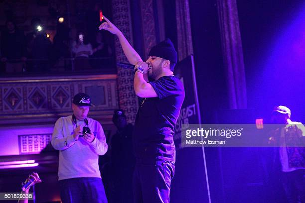 French Montana performs onstage at the Power1051 Breakfast Club Anniversary party presented by Verizon on December 17 2015 in New York City