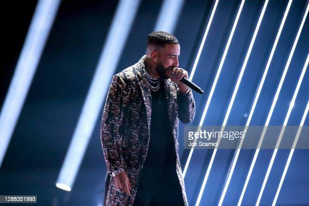 French Montana performs onstage during Mike Tyson vs Roy Jones Jr. Presented by Triller at Staples Center on November 28, 2020 in Los Angeles,...