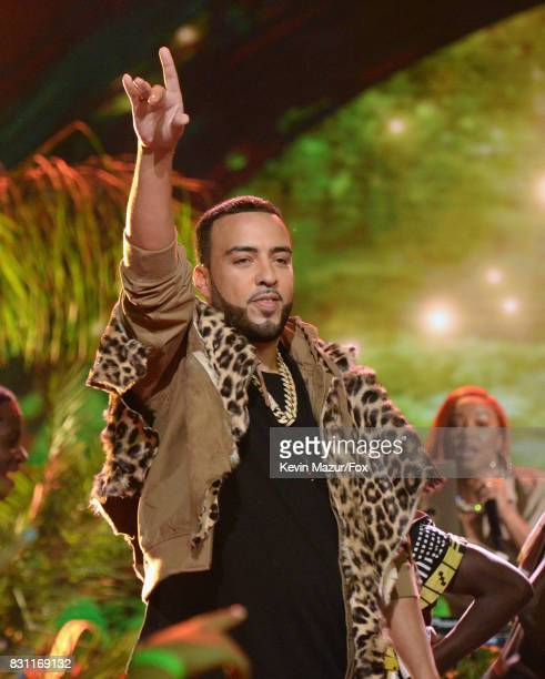 French Montana performs onstage during the Teen Choice Awards 2017 at Galen Center on August 13 2017 in Los Angeles California