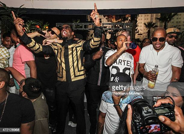 French Montana performs with Diddy at The Havana Club at the New Tropicana Las Vegas on May 2 2015 in Las Vegas Nevada