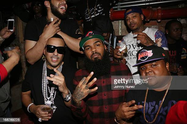 French Montana, Stalley and Fred The Godson attend the French Montana Album listening party at HiLo on May 7, 2013 in New York City.