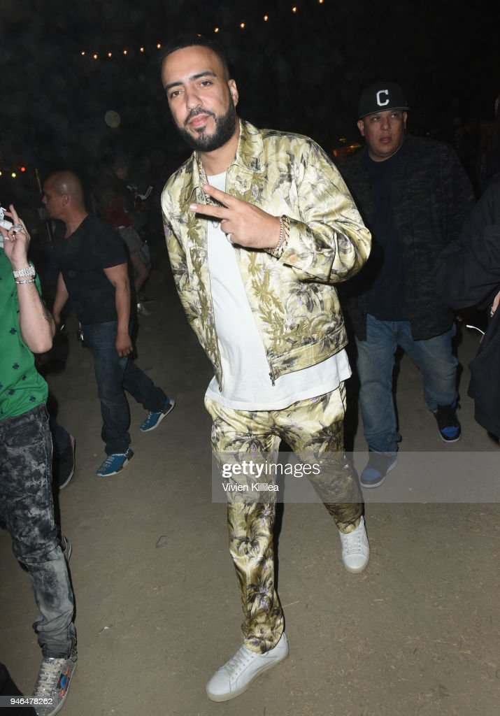 French Montana stops by the Batiste Dry Shampoo Braid Bar at The Levi's Brand Presents Neon Carnival with Tequila Don Julio on April 14, 2018 in Thermal, California.