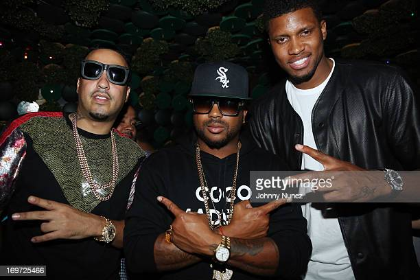 French Montana TheDream and NBA player Rudy Gay celebrate TheDream's album release at Greenhouse on May 30 2013 in New York City
