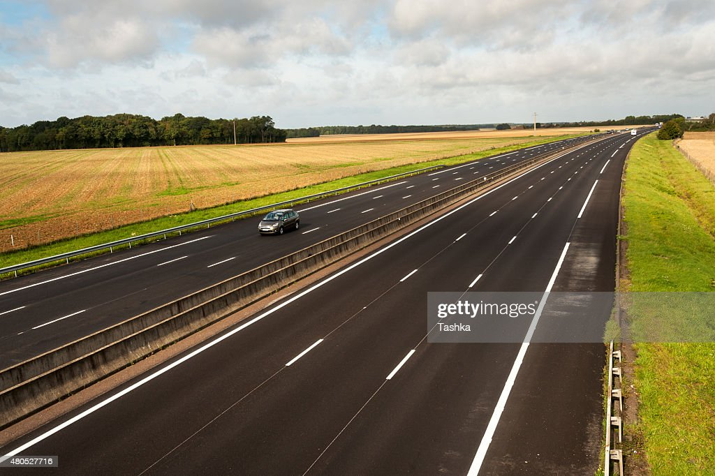 French motorway : Stock Photo