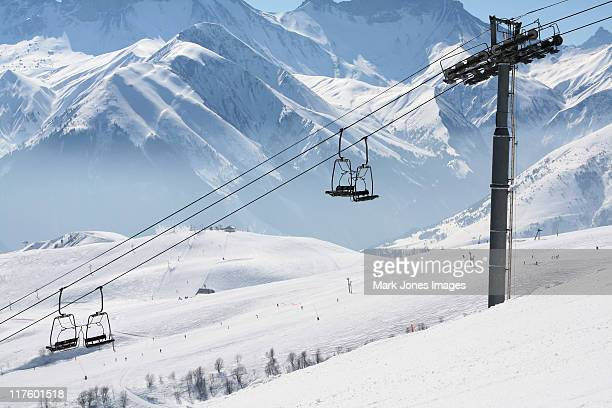 French mountain chairlift