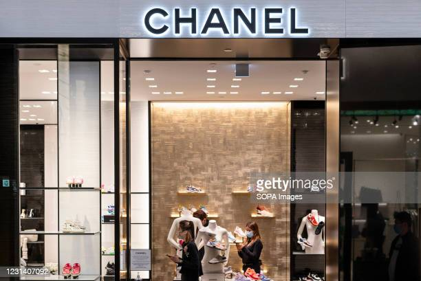 French multinational, Chanel clothing and beauty products brand store is seen in Hong Kong.