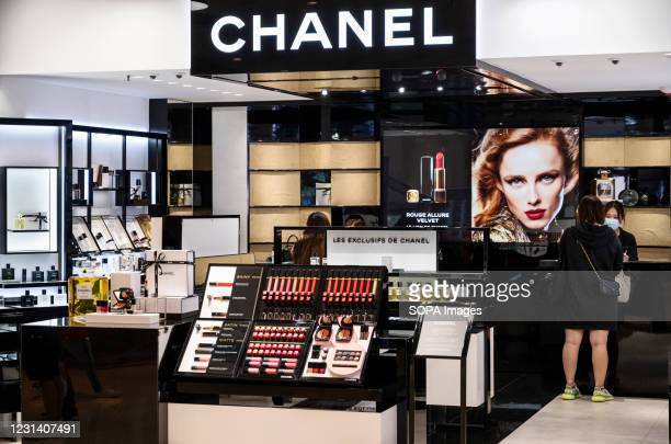 French multinational clothing and beauty products brand, Chanel store seen in Hong Kong.