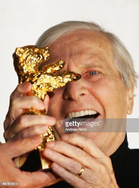 French music composer Maurice Jarre receives an Honorary Golden Bear as part of the 59th Berlin Film Festival at the International cinema on February...