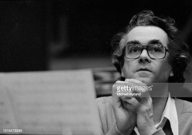 French musical composer arranger conductor and jazz pianist Michel Legrand recording with Phil Woods in London February 17th 1975
