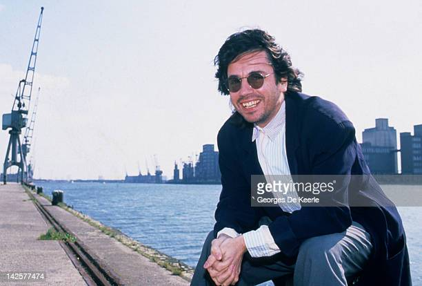 French musician and composer Jean Michel Jarre in London UK 12th April 1988