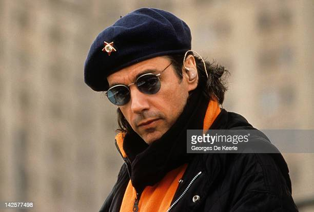 French musician and composer Jean Michel Jarre in Moscow 6th September 1997 He is holding a concert to celebrate the 850th anniversary of the city